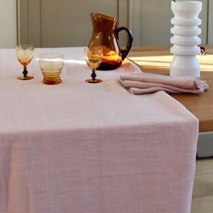 linnen tafelkleed broste roze