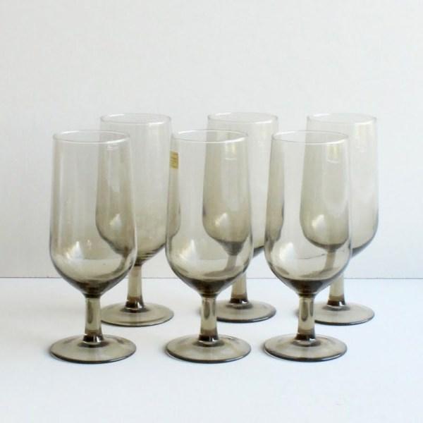 vintage luminarc tulpvormig wijnglas