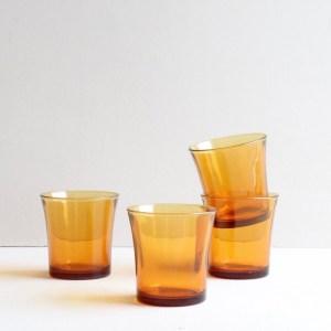 vintage amber glas Duralex