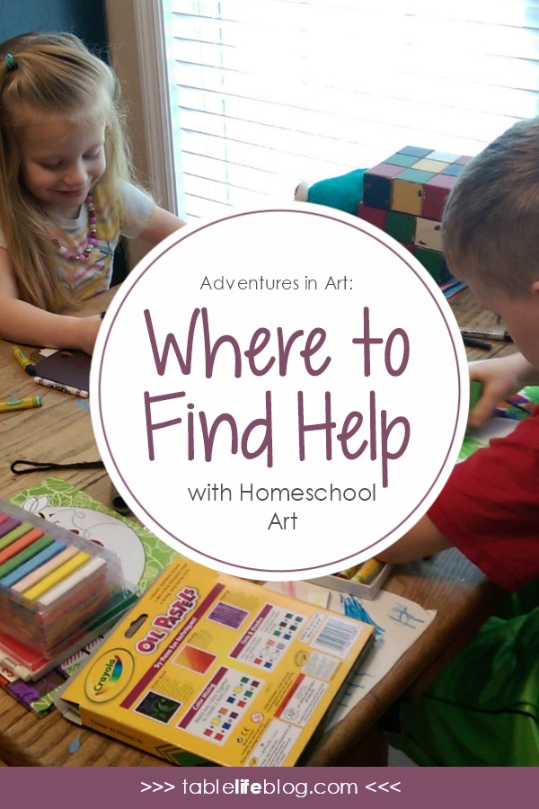 Adventures in Art: Where to Turn for Help with Homeschool Art