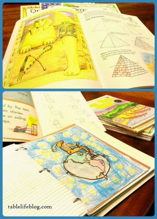 Adventures in Art - using Draw Write Now and Draw and Write Through History in your homeschool.