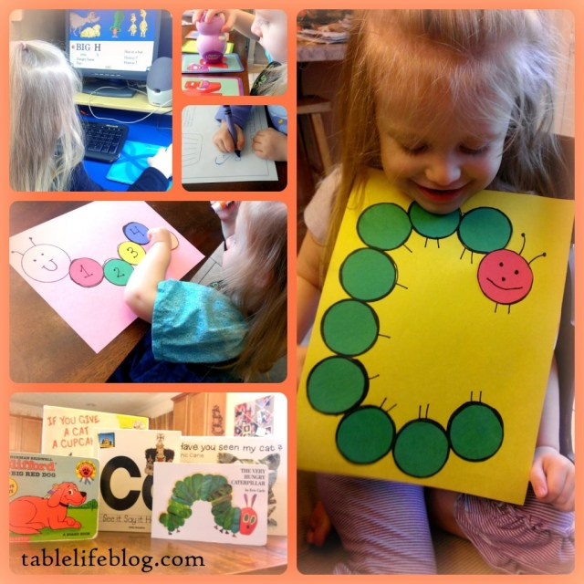 tablelifeblog.com early learning rundown week in review letter of the week c preschool homeschool caterpillar
