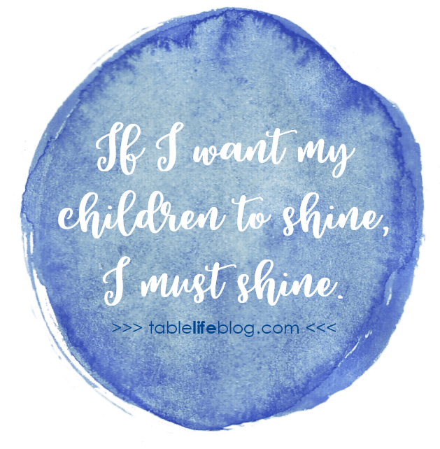 Philippians for the Homeschool Heart ~ If I want my children to shine, I must shine.