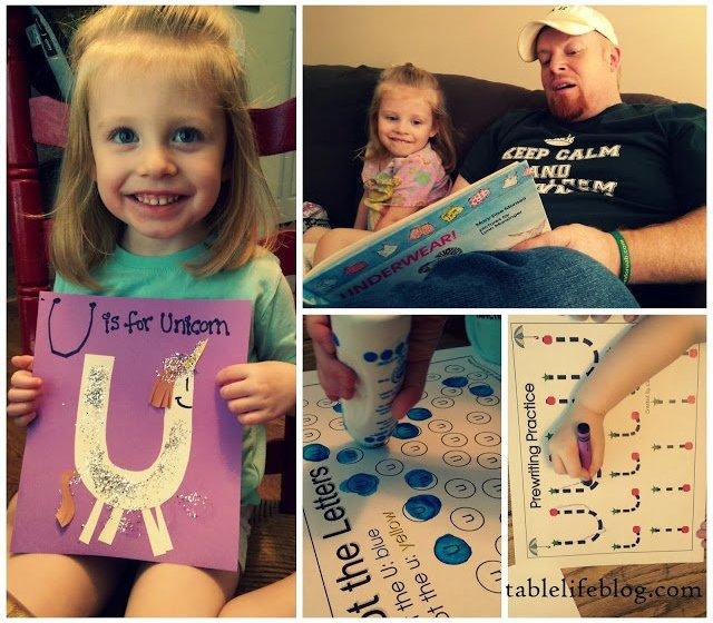 The Rundown: Week in Review (Letter of the Week ~ U is for Unicorn~ preschool~ homeschool~ early learning)