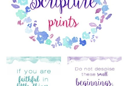 Free Scripture Prints - Luke 10 and Zechariah 4