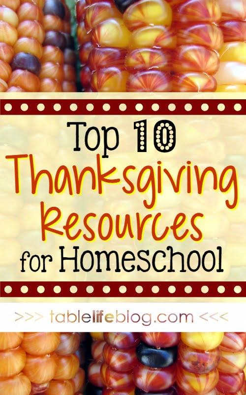 2106 Reader Favorites from TableLifeBlog ~ Thanksgiving Resources for Homeschool