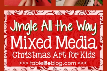 Jingle All the Way Mixed Media Christmas Art for Kids