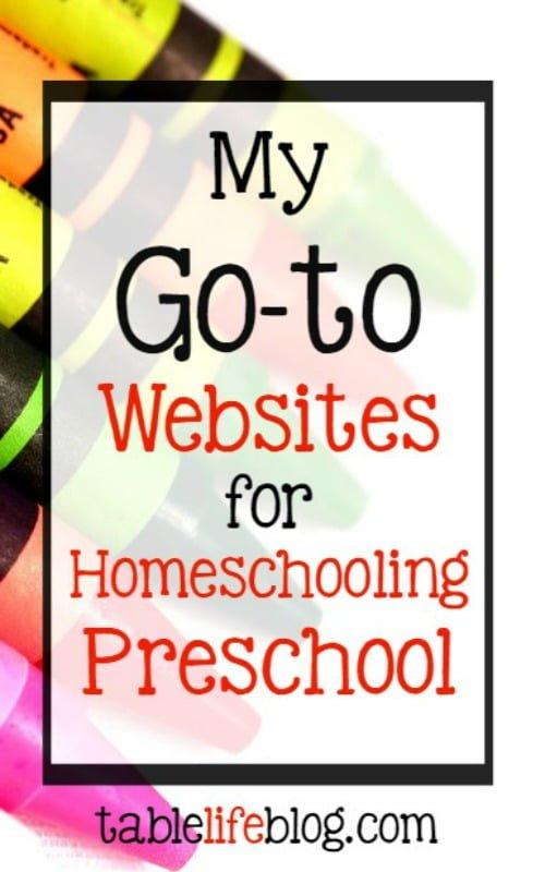 2016 Reader Favorites from TableLifeBlog ~ My Go-to Websites for Homeschooling Preschool