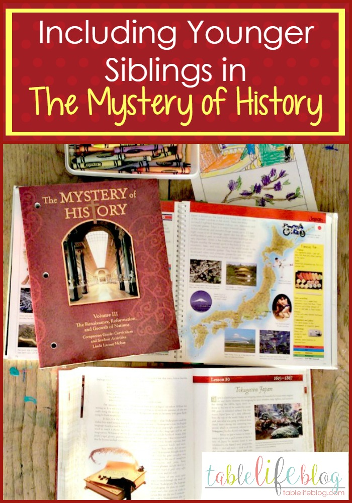 3 Ways to Include Younger Siblings in The Mystery of History Lessons