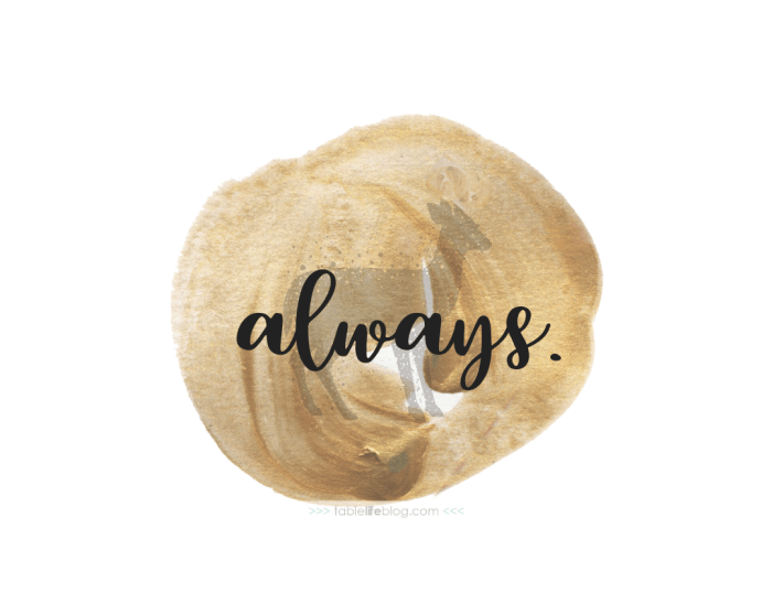 Always - 10 Marvelously Magical Harry Potter Quotes (+ Free Printable Decor & Phone Backgrounds)