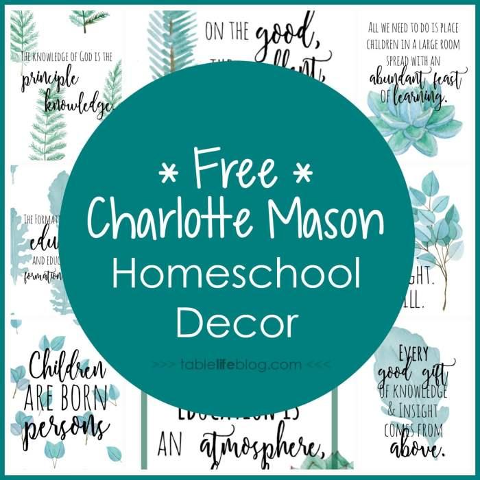 Homeschool Inspiration: Charlotte Mason Quotes, Prints, & Phone Backgrounds