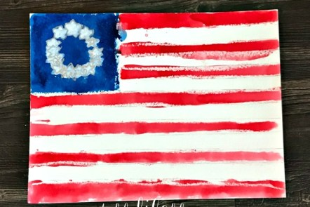 Quick and Easy Colonial Flag Watercolor Art Project