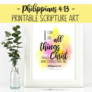 Philippians 4:13 Printable Scripture Art