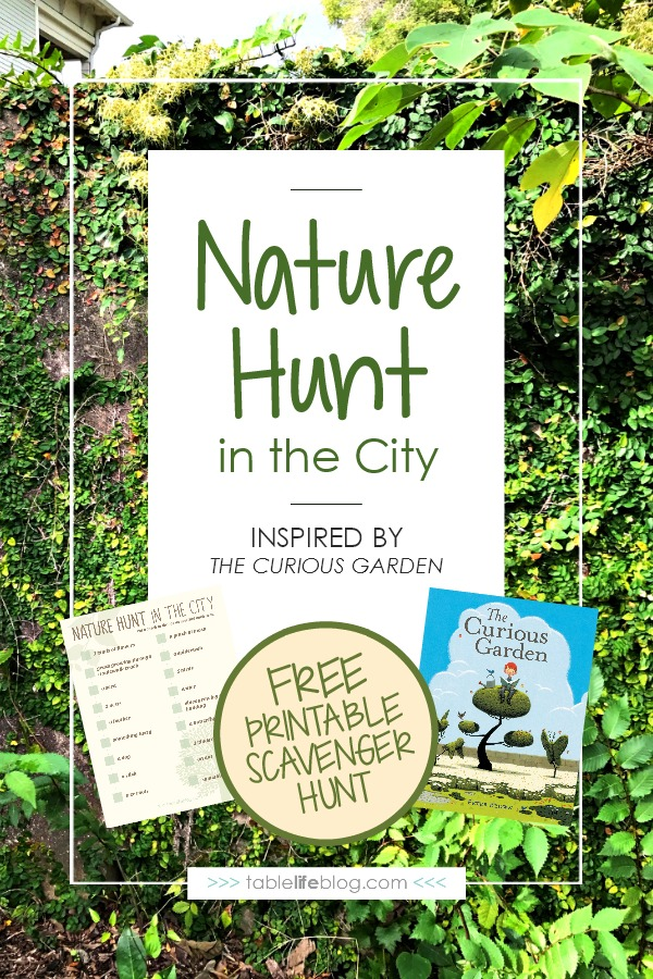 Nature Scavenger Hunt in the City Inspired by The Curious Garden by Peter Brown