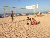 Shooting beim Beachvolleyballplatz