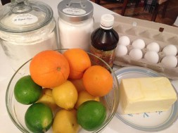 Ingredients for Pound Cake