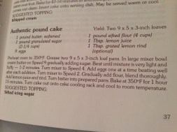 The original Authentic Pound Cake recipe