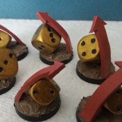 Blood Bowl Re-Roll Counters (6)
