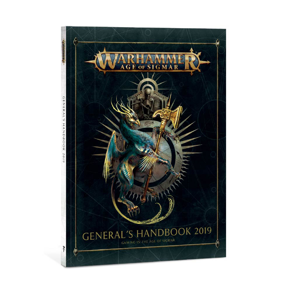 Cover art of the General's Handbook 2019 for Age of Sigmar.
