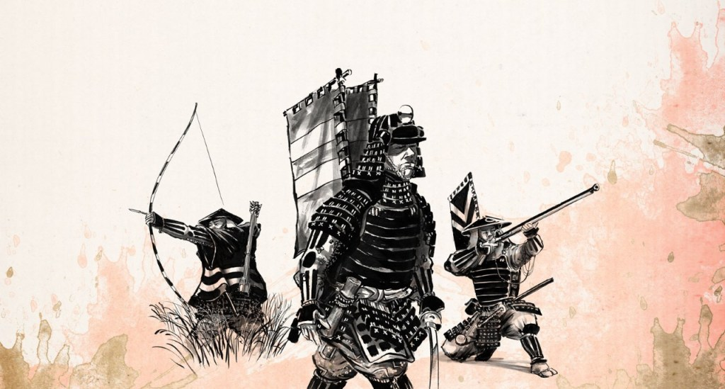 Example Samurai art from Test of Honour.