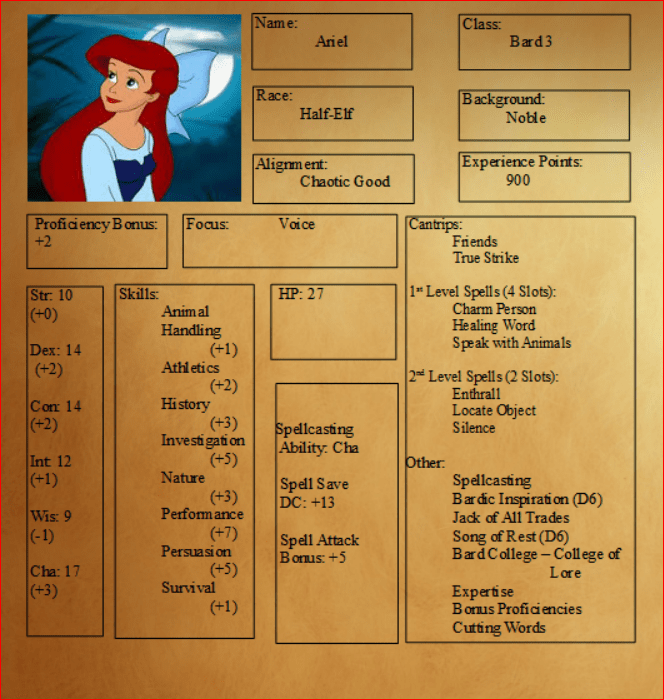 Disney Princess D D Character Sheets Tabletop Kingdoms Now, i had already decided that the lich was smart enough to encase his. disney princess d d character sheets