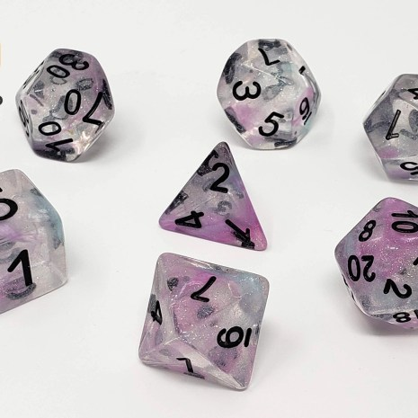 Tabletop Loot _ Luminous Chrome-dice-set-dice-dnd-dice-dd-dice-tabletop-dice-dungeons-and-dragons