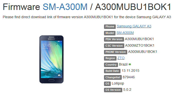 Samsung Galaxy A3 Stock ROM