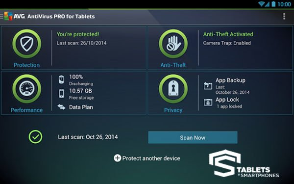 AVG Tablet AntiVirus Security PRO v6.7.1