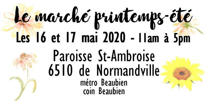 Marché printemps-été 2020 @ Marché artisanal Montréal   Montreal   QC   Canada