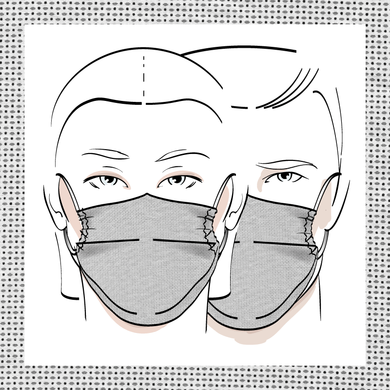 Couvre-visage 3 épaisseurs | Le 338