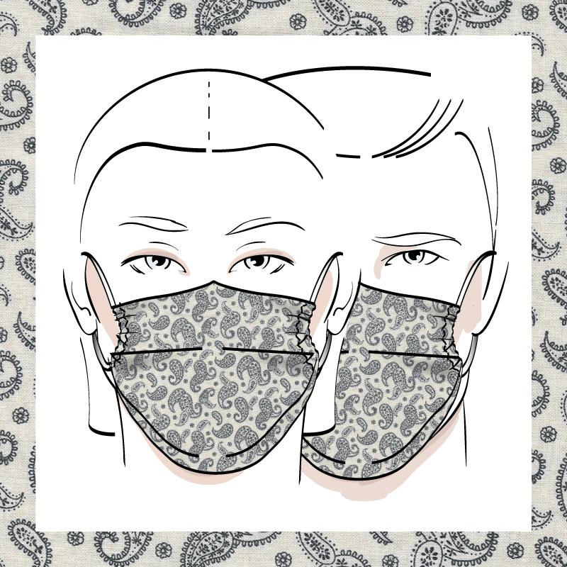 Couvre-visage 3 épaisseurs | Le 344