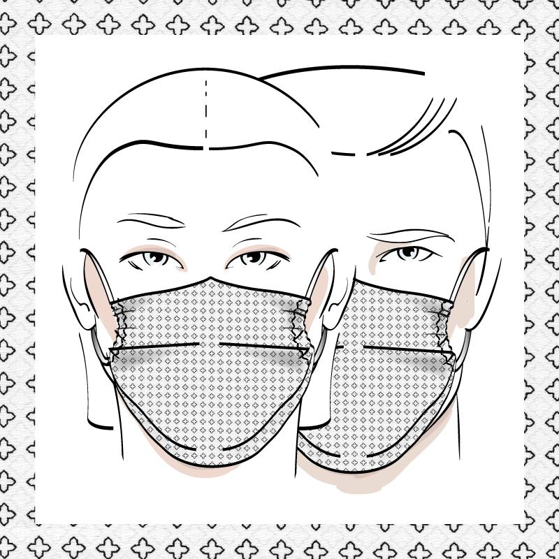 Couvre-visage 3 épaisseurs | Le 364