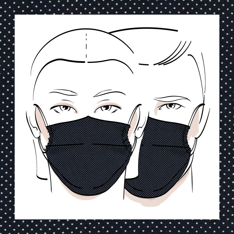 Couvre-visage 3 épaisseurs | Le 374