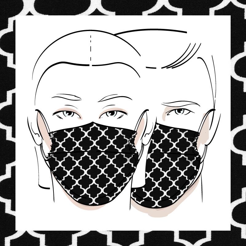 Couvre-visage 3 épaisseurs | Le 396