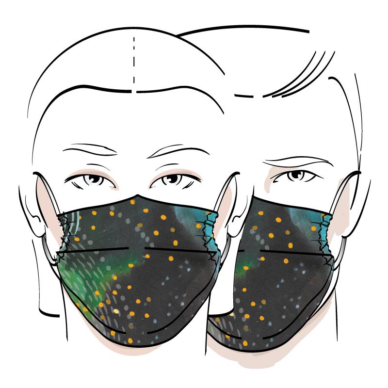 No. 424C – Couvre-visage 3 épaisseurs