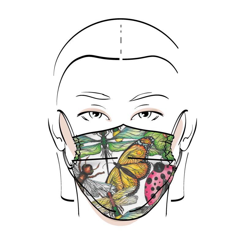 No. 425 – Couvre-visage 3 épaisseurs