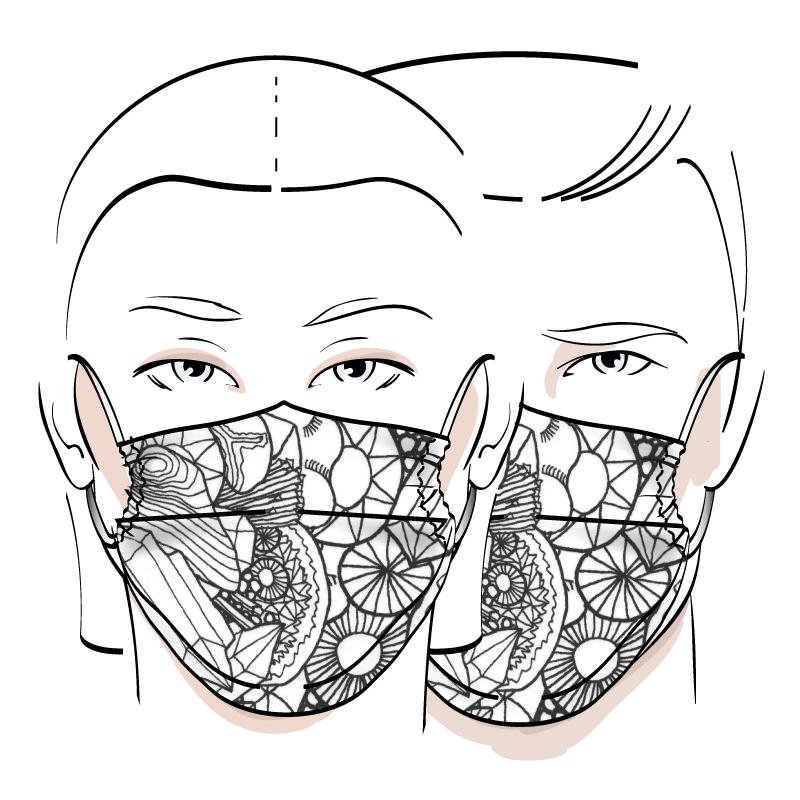 No. 427 – Couvre-visage 3 épaisseurs