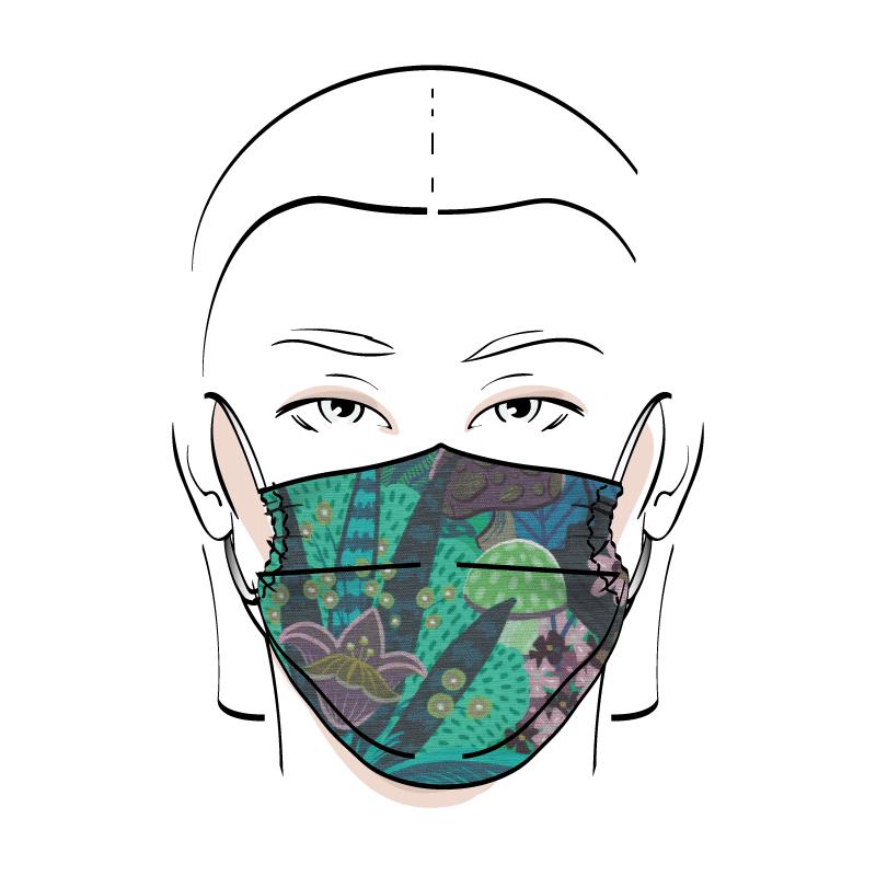 No. 432 – Couvre-visage 3 épaisseurs