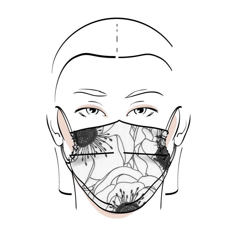 No. 433 – Couvre-visage 3 épaisseurs