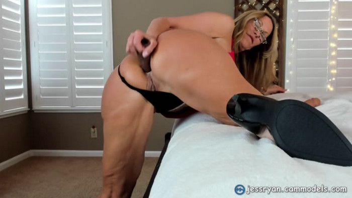 Slutty Mom Jess Ryan Anal Ass to Mouth Freaky Private Show