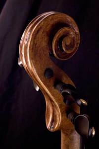 baroque violin scroll