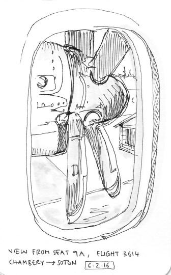 Plane seat view