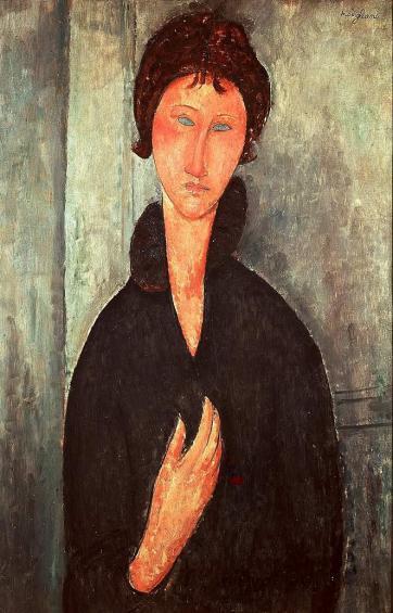 Modigliani Femme aux yeux bleus, Paris
