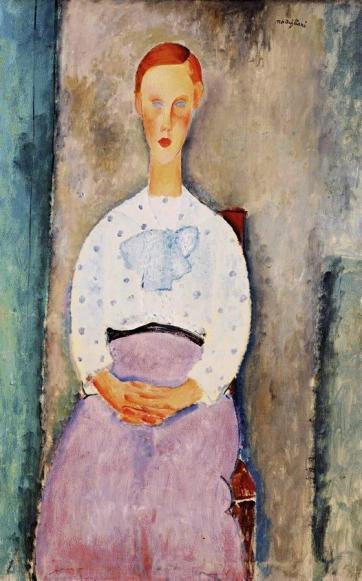 modigliani.girl-polka-dot-blouse