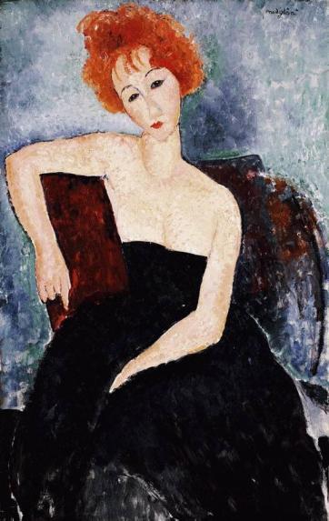 modigliani.redhead-dress