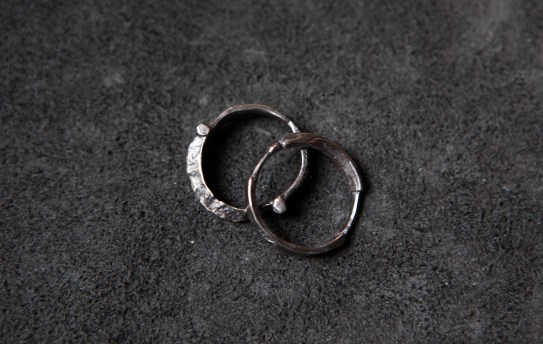 R1001 -Deco stack ring (set of 2), Silver
