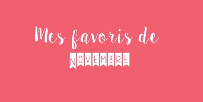 Mes favoris de novembre 2015