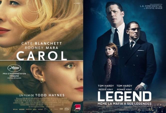 Chronique Ciinéma - Carol + Legend