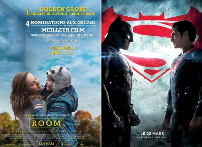 Chronique Cinéma - Room + Batman vs Superman : L'Aube de la Justice