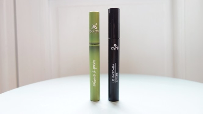 Battle mascara bio à petit prix - Avril beauté vs Boho Green - Blog beauté naturelle Tache de Rousseur